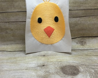 Chick Embroidery Design, Chick Face Embroidery Design