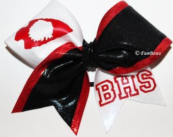 Custom School Logo or Initials Cheerleading Bow by Funbows