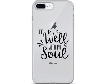 Sale**It Is Well With My Soul iPhone 7 Plus 8 Plus Case, It is Well Phone Case, Christian Phone Case, Worship Phone Case