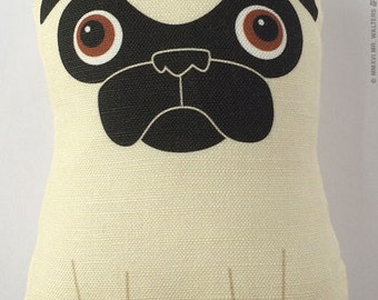 Tricky - Small Fawn Pug Plush