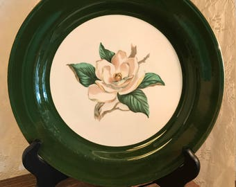 Jade Rose Dinner Plate By Homer Laughlin Nautilus Lifetime China Co. - Semi-Vitreous