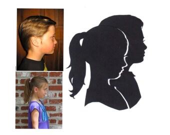 Double Silhouette Portrait 5x7