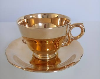 Vintage Royal Winton Cup And Saucer Golden Age