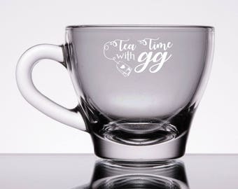 Personalized 6oz Latte / Tea Cup & Saucer
