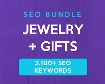 3,100+ SEO Keywords for Jewelry & Gifts: Etsy SEO Keywords. SEO help for Etsy sellers, Etsy tag and title help. Improve your Etsy sales!
