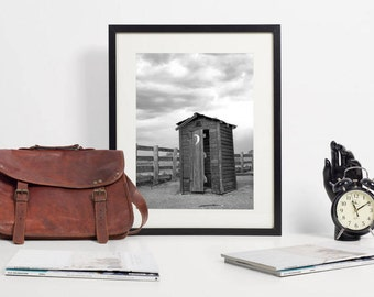 Rustic Home Decor / Framed Bathroom Wall Art / Funny Bathroom Print / Powder Room Decor / Modern Farmhouse Style Prints / Wall Decor