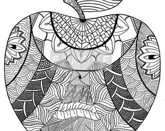 Teachers pet apple coloring page