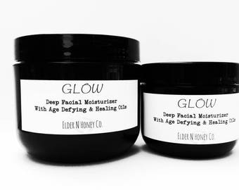 "Tallow Facial Cream - Deep Moisture - Get that ""Glow"" Anti-aging, Tallow, Wrinkle, night or day cream, 100% Natural, Vitamin C, Grass-fed"