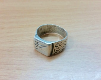 Old Silver Berber Ring from Morocco Size US 10, Free Shipping