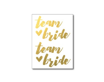 team bride tattoo beach wedding favors temporary tattoos bride gold tattoo bridesmaid gifts summer wedding favors bachelorette party tattoos