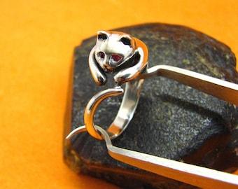 Ring Cat Sterling Silver Ring Kitten Silver