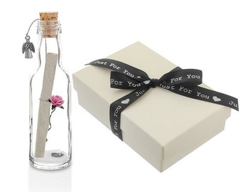 Will you be my Godmother Gift | Personalised Message in a Bottle with Box