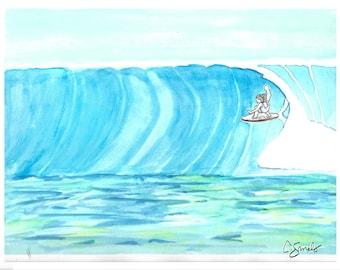Barrel Buns Surf Art Print