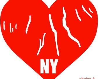 I LOVE NY/Finger Lakes Vinyl Decals