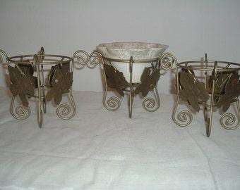 vintage wire  pot stands