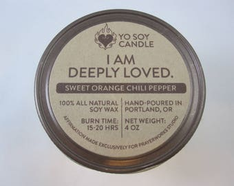 I Am Deeply Loved Candle