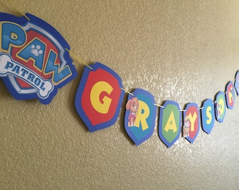 Paw Patrol Inspired Banner, New characters available!