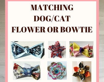 Flower & Bow Tie Collar Accessory Special
