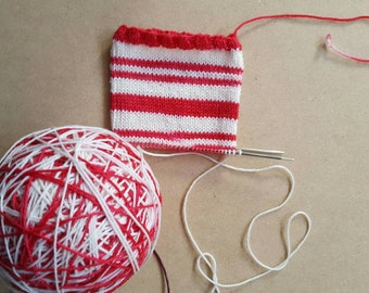 DYED TO ORDER: Hand Dyed Self Striping Sock Yarn ~    Candy Cane Classic