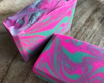 LIMITED Spellbound Soap - citrus soap, pink soap, blue soap, handmade, grapefruit, bridal shower gift, bar soap, vegan soap, love spell type