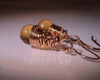 Gold Earrings Citrine Earrings Summer Jewelry Nov Birthstone Earrings Gift Jewelry