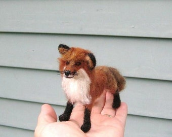 Gourmet Felted Handmade OOAK Needle Felted Animal of your Choice / Poseable /example Red Fox