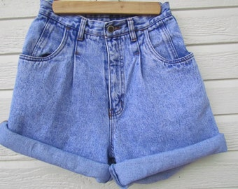 High Waist Denim Shorts 24 XS