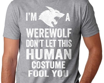 Warewolf T-Shirt Funny Halloween Costume Tee Shirt Halloween Party Shirt