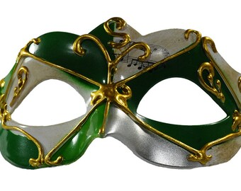Musical Collection Masquerade Mask Green