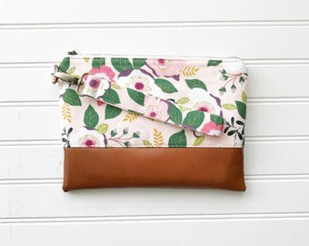 SPRING '18 COLLECTION Blush Mommy Clutch - Wallet Clutch - Small handbag - Floral Wristlet - Wallet Clutch