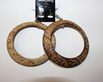 Brown Acrylic Hoop Earrings
