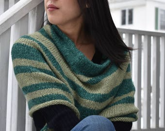 Striped Cowl/Capelet