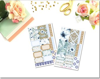 Winter Floral Happy Planner 2 Page Kit