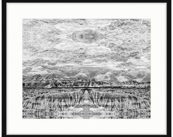 Eye in the Sky - Black and White Landscape Photography Turned Optical Art - Home Decor