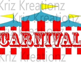 Carnival Tent SVG Cut File