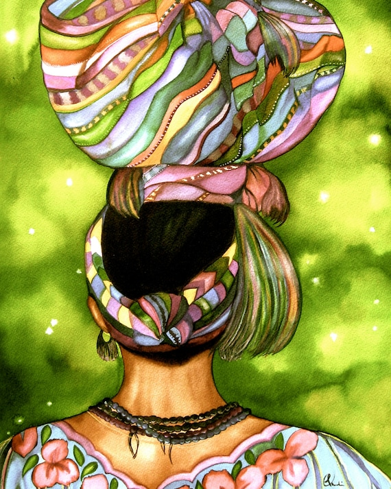 woman carrying a load on her head from Guatemala Giclee print