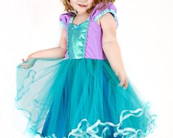 Ariel dress Little Mermaid dress  princess Tutu dress for birthday party dress  or portrait