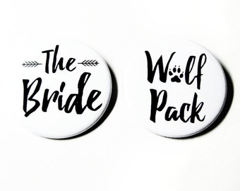 Bachelorette Party Favors Funny Pinback Buttons Bridesmaids Gifts Wedding
