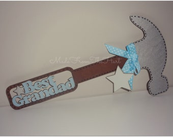 Wooden Personalised Father's Day Hammer