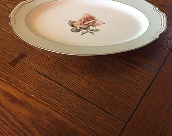 This is a Halsey fine China platter