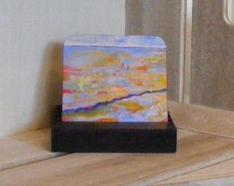 The Wash Norfolk, coaster from a painting by Pamela Palmer