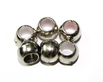 Wholesale Price 60 PCS of Silver Round Beads Supplies