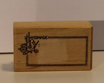 Handmade By Label rubber stamp PSX