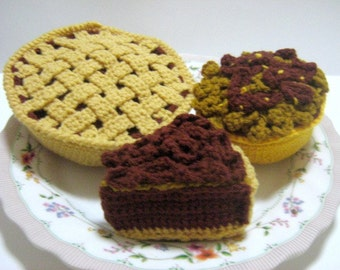 Crochet Food Pattern Pie Crochet Pattern PDF Instant Download Pecan Pies