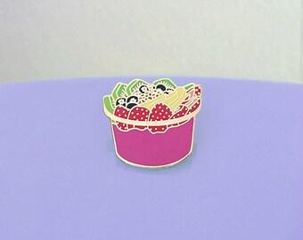 Fruit Smoothie Bowl Enamel Pin