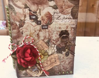 Handmade prima marketing vintage journal