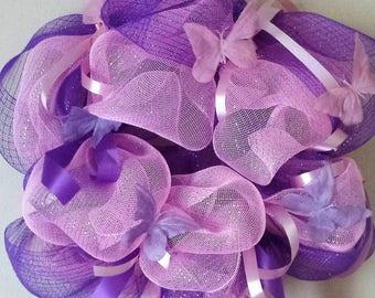 Pink & Purple Butterfly Wreath!