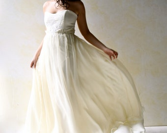 Wedding Dress, Wedding Gown, Boho wedding dress, Ball gown dress, Beach wedding dress, Alternative wedding dress, Silk dress, bridal gown