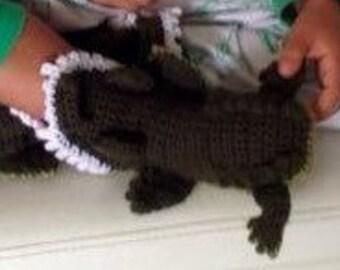 Kids Feet Eating Crocodile Slipper Pattern Size 11-1