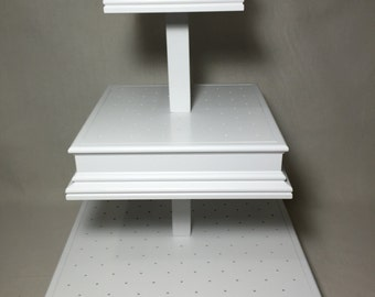 3 Tier Custom Made  Square Cake Pop Stand with Matching Sides.  Can Hold  Up To 200 Cake Pops.